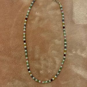 Emily Ray pearl and crystal sterling silver choker